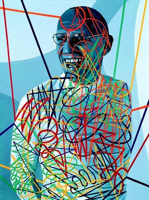 portrait of Michel Foucault by Gerard Fromanger