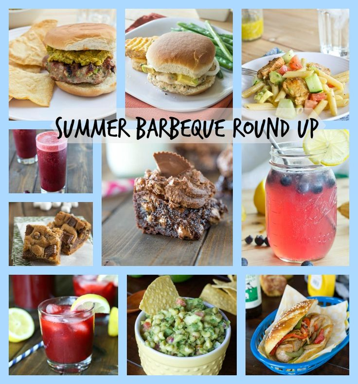 Summer Barbeque Round Up - Complete menu ideas for all your summer get togethers
