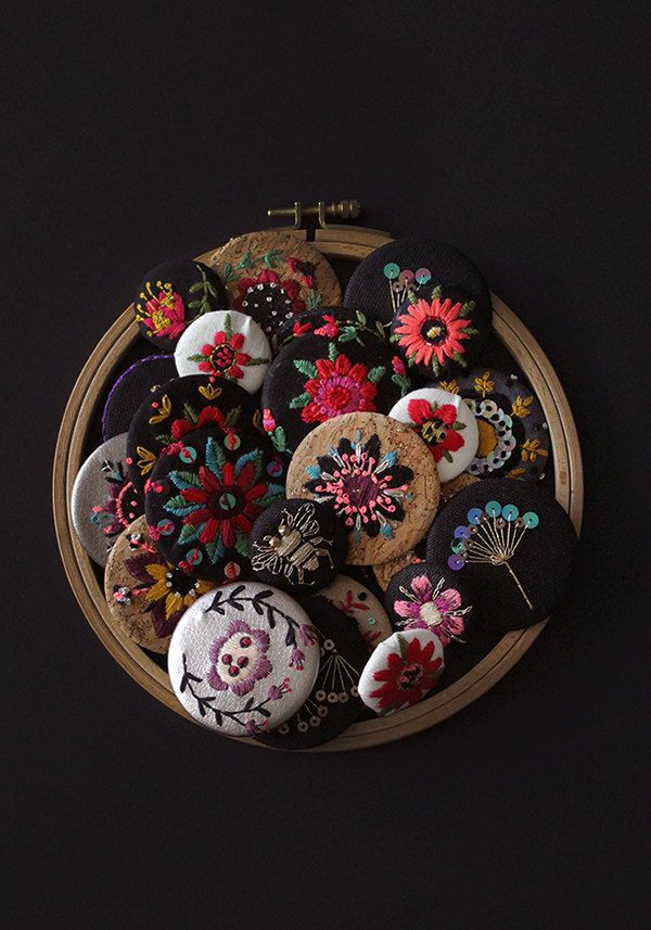 Flora collection embroideries — MinaSmoke #embroidery #embroideredjewelry