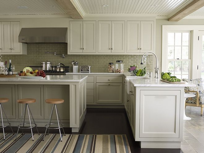Best Gorgeous Two Tone Kitchen Design With Creamy White Top 400 x 300