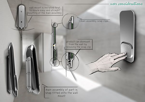PRODUCT POSTER - control panel and PIR sensor by Natalia Tofas, via Behance