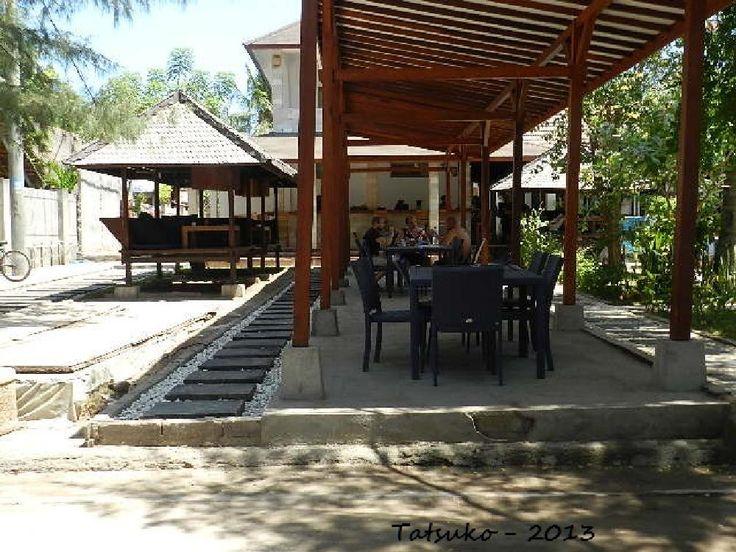 Cafe on the beach of Kuta Lombok by mytatsuko