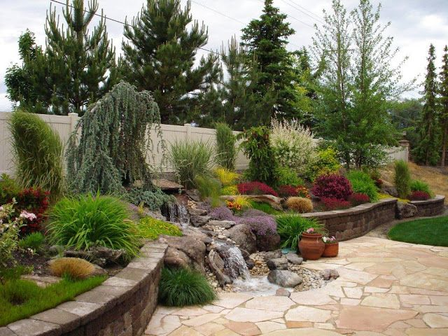 Amazing Garden Design with small Waterfalls - http://mostbeautifulgardens.com/amazing-garden-design-with-small-waterfalls/