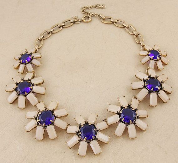 Geometric floral necklace Geometric floral bib by shop2lopez, $54.49