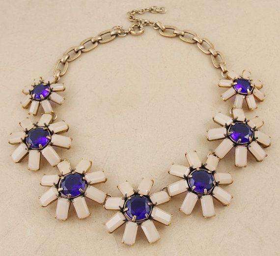 Geometric floral necklace Geometric floral bib by shop2lopez, $54.49