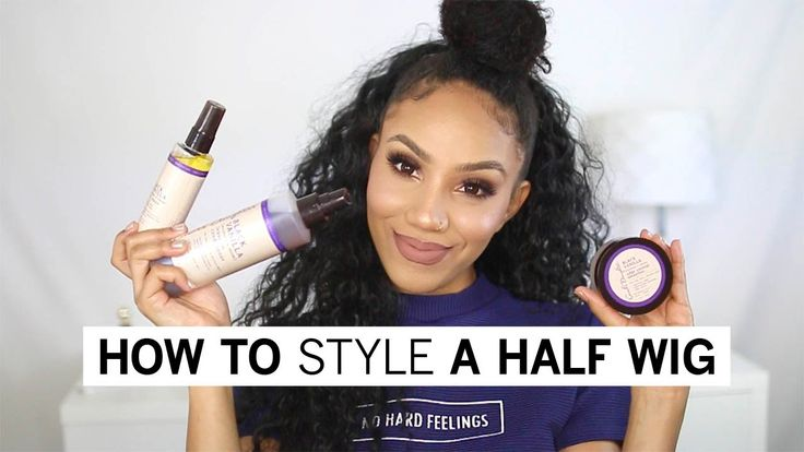 How to Style a Half Wig with Natural Hair