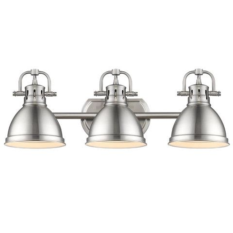 Duncan Vanity Light | Nickel Metal 3 Light Shade