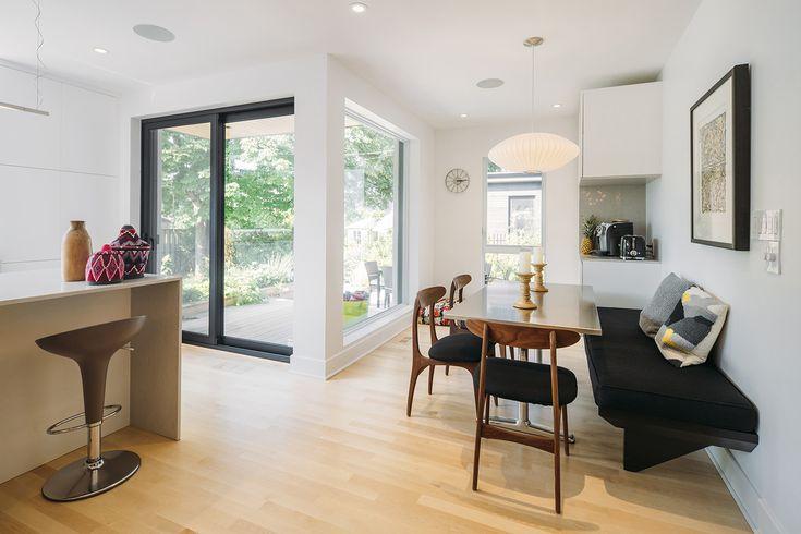 Architecture / Design / Contemporain / Dinette / Bois / Blanc // Interior Design / Eating Space / White / Wood