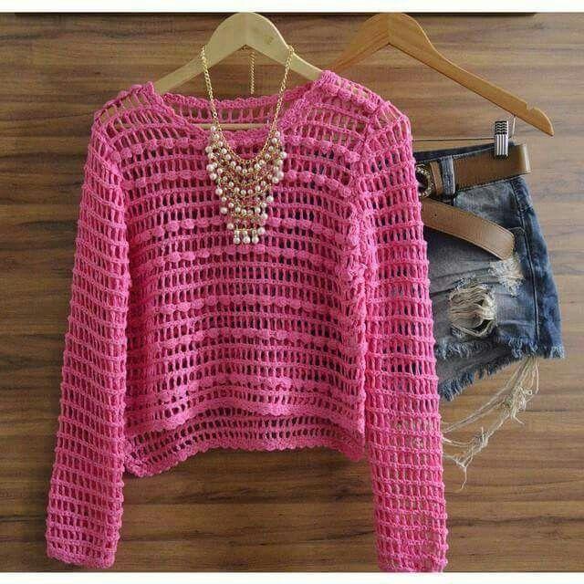 Sweater tejido a crochet