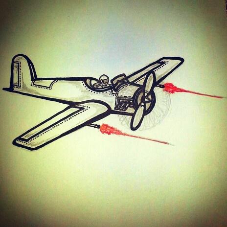 Fighter plane tattoo sketch by - Ranz