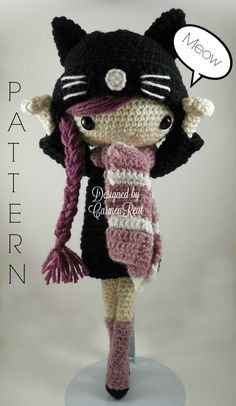 ATTENTION - Keep in mind that this is a crochet pattern in a PDF. This is NOT the finished product.  Miriam is approximately 15 inches tall. Also, please keep in mind that this doll cannot stand up on its own.  This is a non-refundable purchase. Once the payment has been confirmed you will be allowed to download the pattern in a PDF. The language in the pattern is in English only. The pattern includes all of the yarns colors I used for the doll, however you are free to experiment and use…