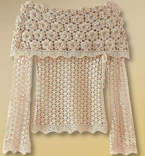Love the Irish crochet!