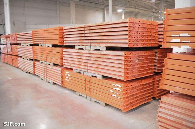 Teardrop Pallet Rack Shelf Beams -144 inch length x 4 inch height Todays Price: $32.00 ea.