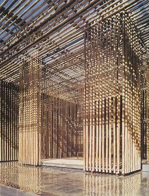Kengo Kuma : Mur de Bambou - Great (Bamboo) Wall, village SOHO, Badaling, Chine du nord (2001-2003)