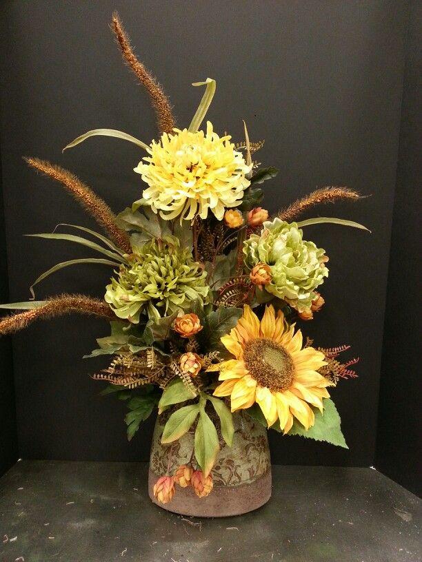 457 best ideas about elegant floral designs on pinterest for Fall fake flower arrangement ideas