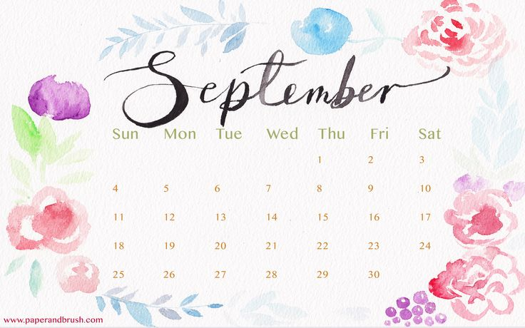 Download free September 2016 calendar, printable, template in excel, pdf, word…