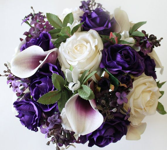 Purple Wedding Bouquet Purple Calla Lily Bouquet Purple