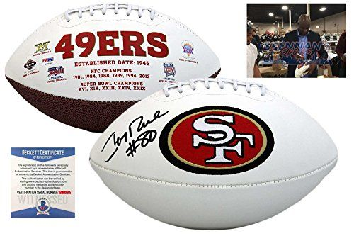 Jerry Rice San Francisco 49ers Autographed Items