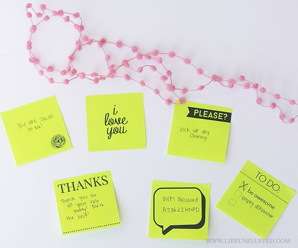 Best Printable PostIt Notes Images On   Planners