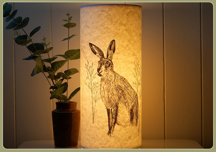 White table lamp - Handmade Lamp A Northern Light Hare Design Cabinessence