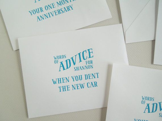 9 best Marriage Advice Cards images on Pinterest | Bridal shower ...