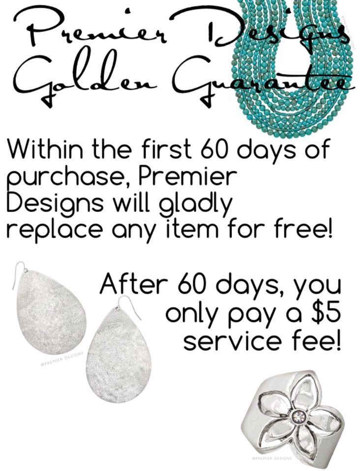 Premier Designs - Our business is based on biblical principles! We stand behind our jewelry! Any defect is covered!