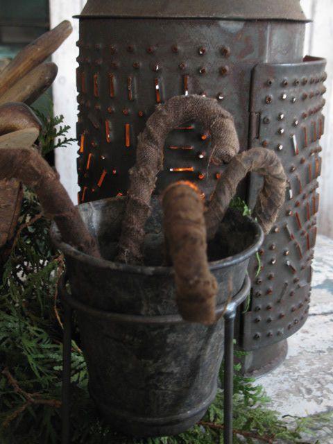 folkart candy canes by old lantern. artist credit Sue Dishop