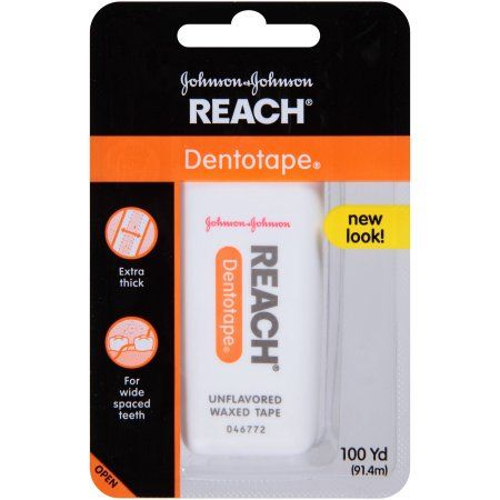 Reach Dentotape Extra Wide Unflavored Dental Floss,100 yd, Assorted