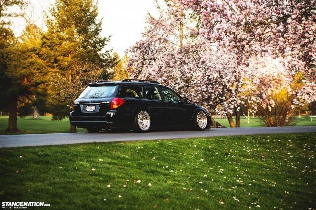 Slammed & Stanced Subaru Legacy Outback Wagon (1)