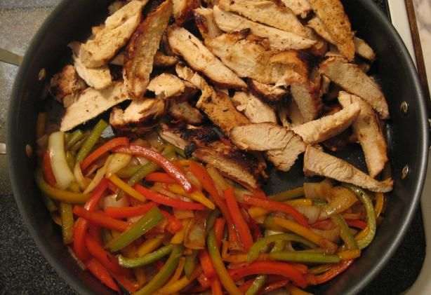 Chili s Fajitas from Food.com: Serve on flour tortillas with cheese, guacamole, sour cream, tomatoes, and lettuce.
