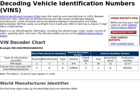 The most important thing you must look for in an online VIN decoder is recommendation. The website should be something people have used to decipher VIN numbers before you and have provided reliable VIN # lookup tools. This is the best way you can ensure the website has a dependable car VIN tool you can use.