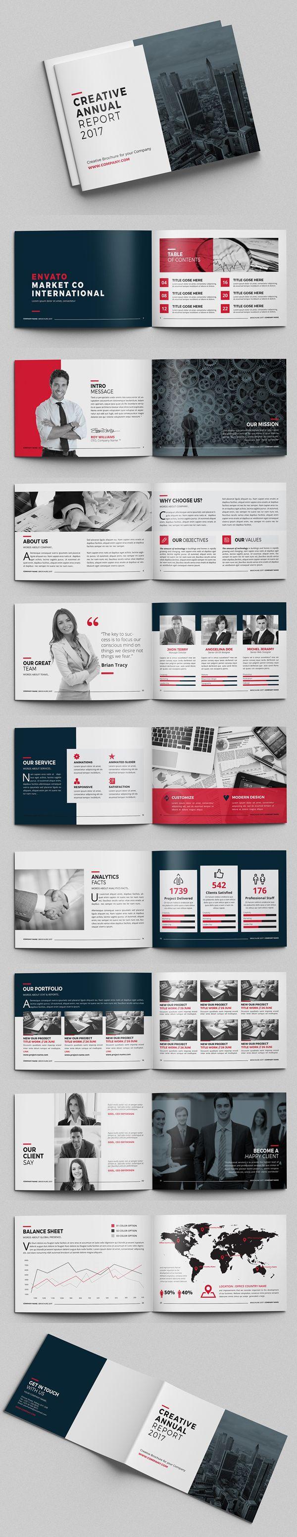 Creative Annual Report Brochure Design #annualreport #booklet #brochuredesign #brochuretemplates #fashioncatalog #portfolio