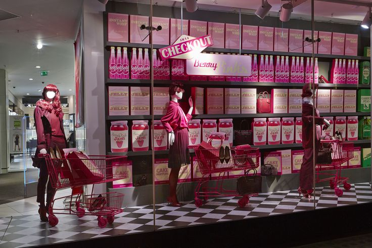Check out the whole window #BerryPinks #VM #Fashion