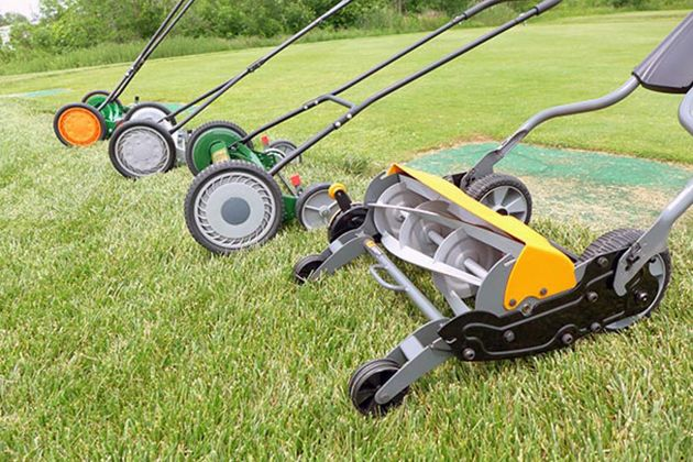 The Best Reel Mower for Your (Small) Lawn | After researching reel mowers for more than 30 hours, talking to a professor with a PhD in turfgrass science, and testing four mowers with a golf-course grounds crew, we think the best one is the Scotts 2000-20 20-Inch Classic Push Reel Lawn Mower.