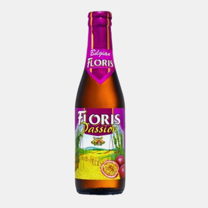 FLORIS PASSION 3.6%  Unusual wheat-based fruit beer, quite sweet and easy to drink