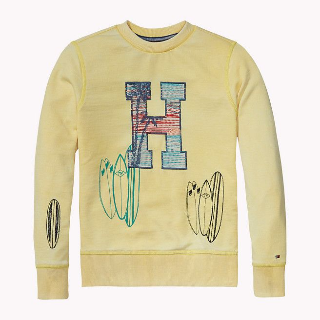 Tommy Hilfiger Sweat-shirt En Mélange De Coton - sunshine (Jaune / Orange) - Tommy Hilfiger Chandails - image principale