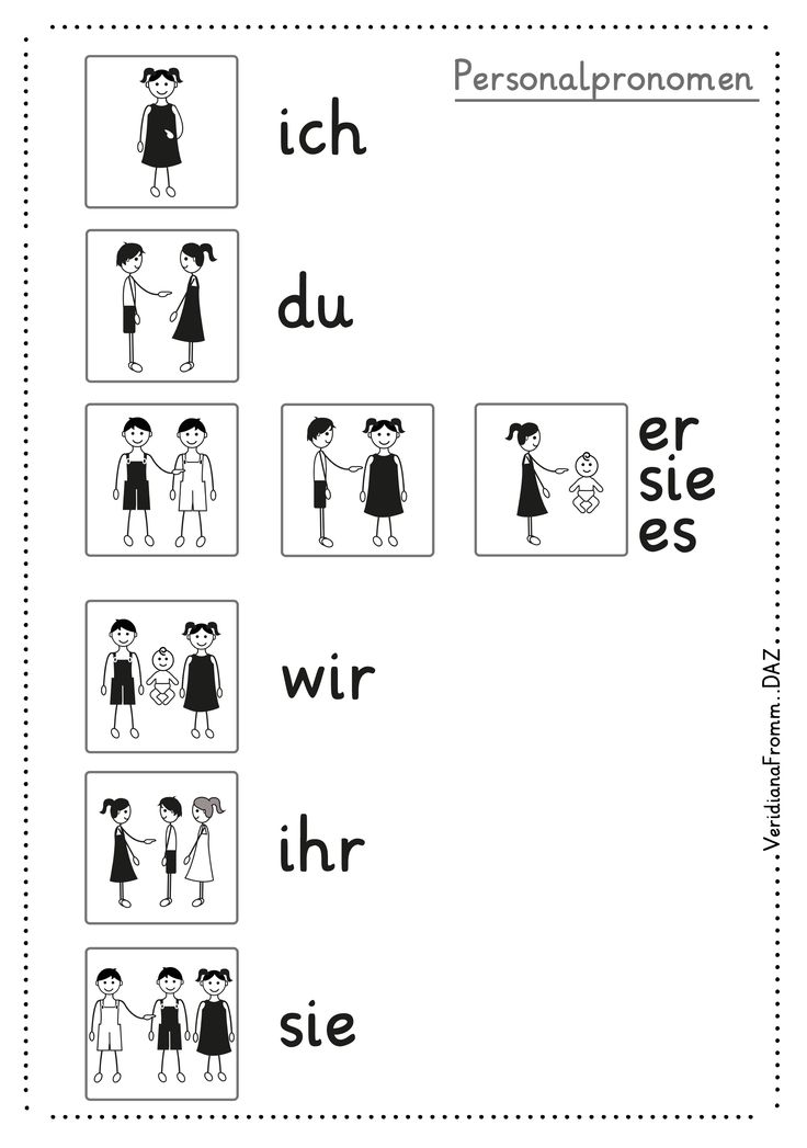 personel pronouns, pronom personnel, Personalpronomen mit Bildern, DAZ