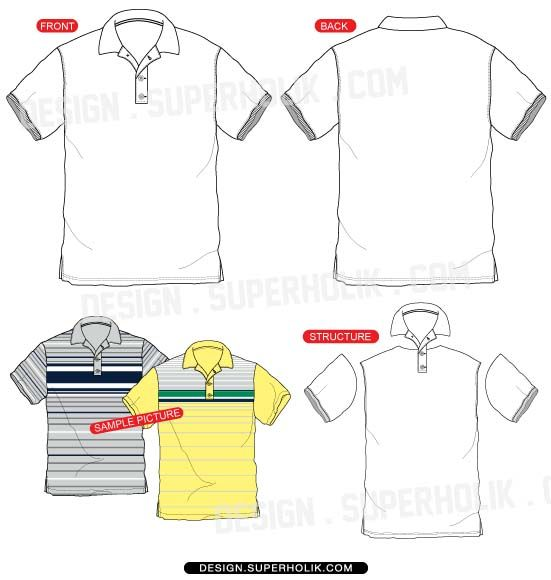 polo shirt vector template for fashion designers