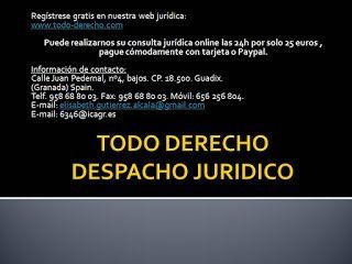 TODO-DERECHO DESPACHO JURÍDICO : Consulta jurídica on line con un Abogado ejercient...