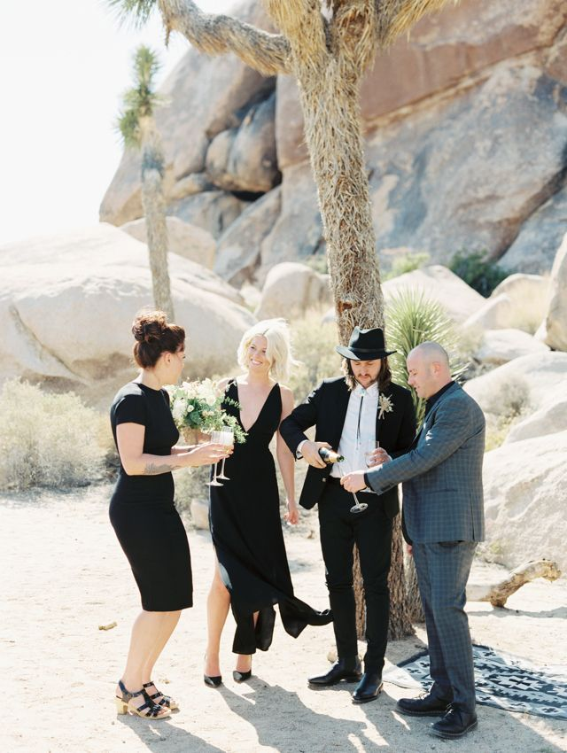 Joshua tree wedding | Gaby J Photography | see more on: http://burnettsboards.com/2015/10/palm-springs-elopement/