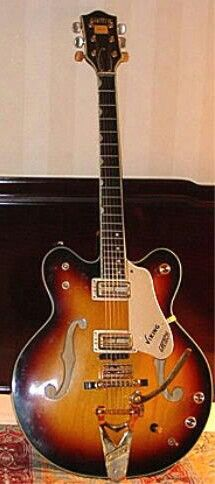 """1967 GRETSCH VIKING 6187! Beautiful Sunburst w/ """"T-ZONE"""" Treble Tempered"""" upper frets & """"Floating Sound"""" unit. VIKING was the first GRETSCH to have SUPERTRON Pickups.. Had most bells & whistles GRETSCH had to offer.. Similar to Country Club.. Cooler name!"""