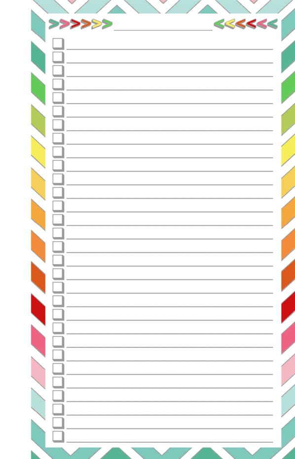 Blank Calendar List Format : Free printable blank checklist half page today s