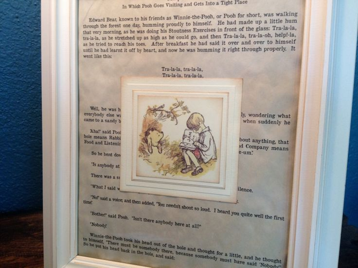 Winnie the Pooh Vintage Book Page Nursery Decor - Ivory Neutral - Baby Shower Present - New Baby Present - Baby Room Decoration. $63.00, via Etsy.