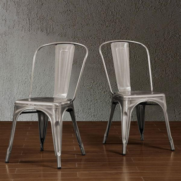 Tabouret Bistro Gunmetal Side Chairs (Set of 2) - Overstock™ Shopping - Great Deals on Dining Chairs