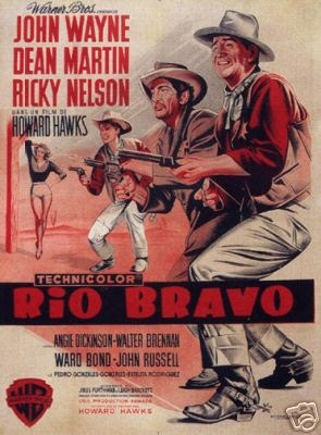 Rio Bravo is a 1959 American Western film directed by Howard Hawks and starring John Wayne, Dean Martin, and Ricky Nelson.