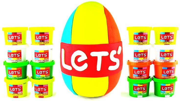 Lets Oyun Hamuru DEV Sürpriz Yumurta Açma 10 Farklı Hamur Oyunu Seti Oyu...