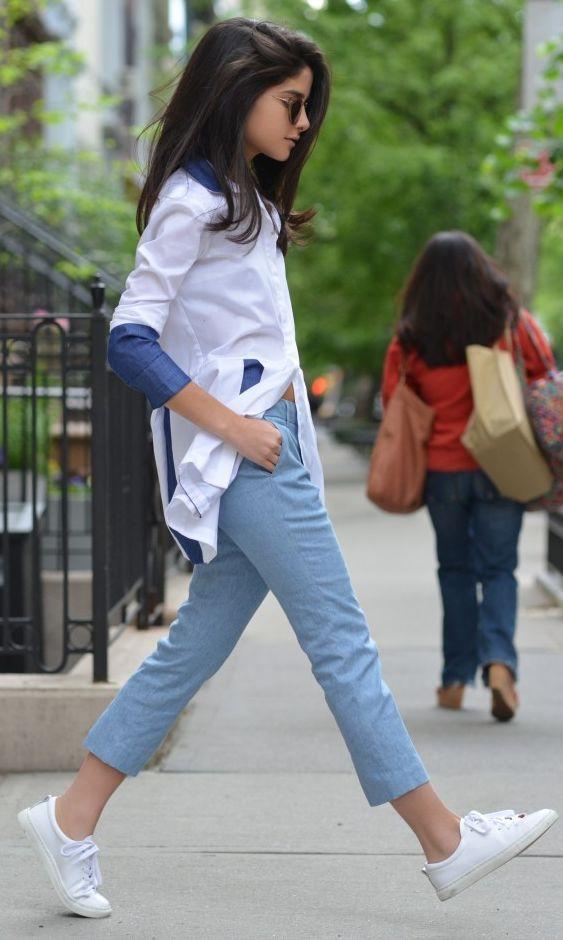 J Brand Blue Tailored Capri Trousers