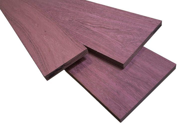 Purple Heart Wood (Peltogyne spp.). http://en.wikipedia.org/wiki/Peltogyne.  The…