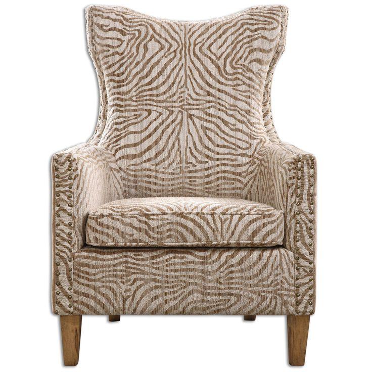 Kiango Animal Pattern Armchair by Uttermost