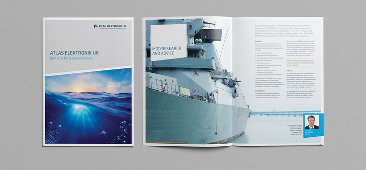 We re-designed and optimsed the copy for ATLAS Elektronik UK's capabilities brochure. Focusing on big impact imagery to show the sheer scale of science and technology they bring to the MoD and defence industry, we achieved an eye-catching read with assistance from clean typography and graphic design. #ATLASelektronik #MoD #science #technology #marine #brochures #creative #graphicdesign